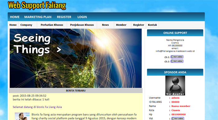 web support fa liang