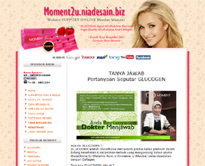 Website Support system GLUCOGEN / MOMENT2U