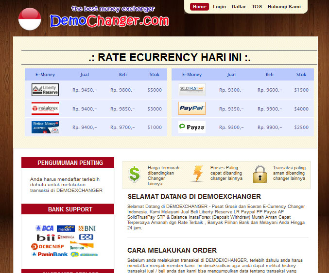 Website Jual Beli LR/PP/Instaforex/PM/Payza + sistem referral